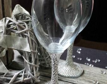 Glass Crystals Wine Glass