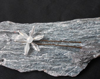 White Flower Hair pin