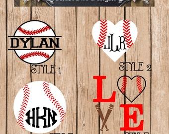 Baseball Vinyl Decals
