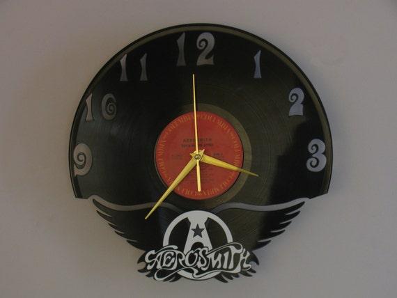 Aerosmith Clock Wall Clock Steven Tyler Rolling By Revinyljr