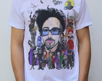Tim Burton T shirt Artwork by hatoola13