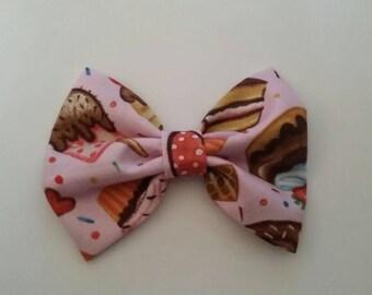 Pink dessert hair bow