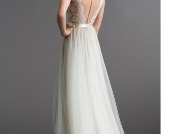 Custom Made , watters santina inspired wedding gown ,