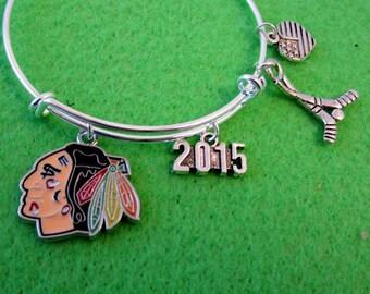 CHICAGO BLACKHAWKS Bangle Bracelet
