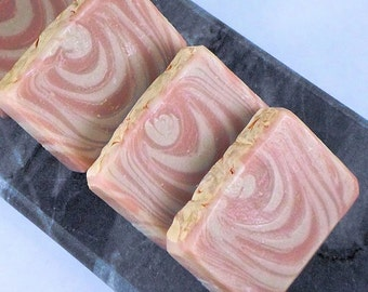 Coconut Creamsicle Scented Handmade Cold Process Soap, Artisan Bar Soap, Orange Summer Soap