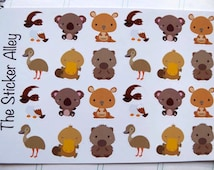 24 Cute Australian Animal Stickers (Perfect for Erin Condren Life Planners, Planning and Scrapbooking)