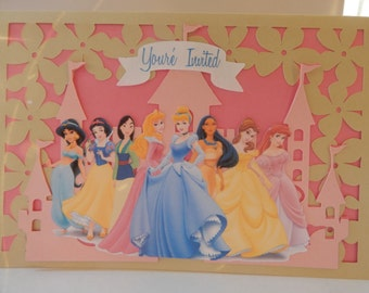 Disney Princess Inspired Invitation
