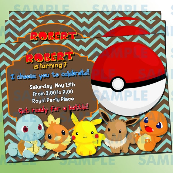 pokemon birthday party printable invitations page two | birthday wikii, Party invitations