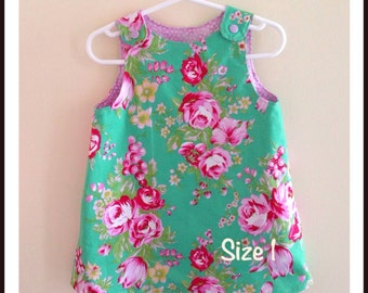 Reversible A-Line Toddler Dress