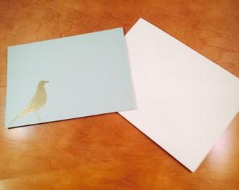 Eames Bird Inspired Blank Greeting Card - Light Blue