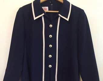 vintage navy sailor shirt s/m