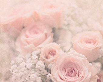 Flower Wall Art, Shabby Chic Decor, Pink Wall Art, French Country Decor, Pink Bathroom Decor, Pink Bedroom Art, Rose Photography