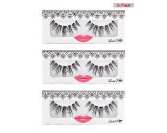 Premium False Eyelashes_LashXO Angel Amour False Lashes 3PK, beautiful high quality lashes_Compare to Make Up For Ever, MAC, Sephora