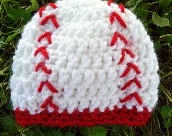 Baseball Beanie: Preemie to Adult Sizes