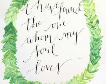 Calligraphy Love Quote 8x10