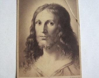 1870's original photo,Jesus Christ portrait