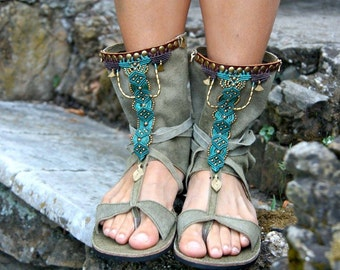 Ethnic tribal macramè sandals