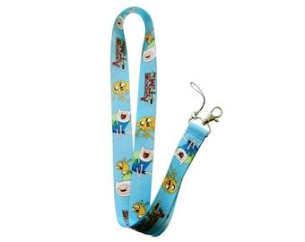 Adventure Time Lanyard Key Chain ID Holder Finn & Jake