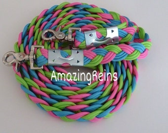 Custom 1 in/ 9 Strand Paracord Reins