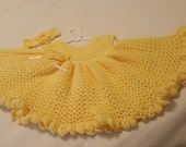 crochet baby dress, baby dress, headbands, crochet, handmade, yellow, baby shower gift, baby gift, washable, smoke free home, baby girl