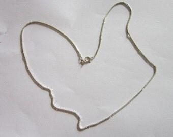 Beautiful Italian Sterling Silver Triangle Box Chain Necklace 20 inch