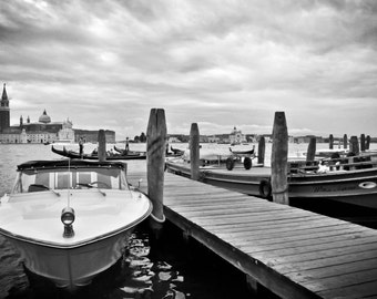 Dock on the Grand Canal, Venice Italy