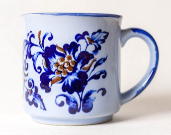 Vintage Blue Flower Mug - Vintage Coffee Mug