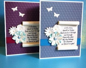 Birthday Scroll Handmade Greeting Card