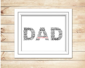 Fathers Day  Word Art 'DAD'