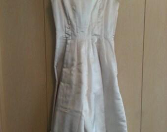 Gorgeous Handmade Vintage White A-Line Dress