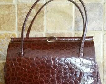 Immaculate Mock Croc, A.Jones&Son Leather Handbag.