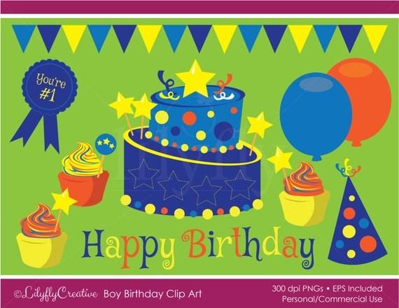 Topsy Turvy Cake Clipart : Boy Birthday Clip Art Topsy turvy cake by LilyflyCreative ...