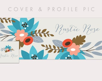 Rustic Timeline Cover + Profile Picture | Rustic Rose | Cover, Profile Picture, Branding, Web Banner, Blog Header