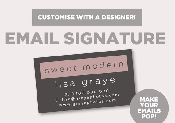 Email signature 39 simple modern 39 email graphics for Modern email design