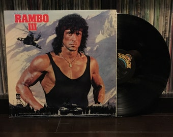 Rambo III soundtrack Jerry Goldsmith vinyl LP Promo Copy