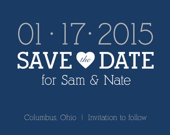 Wedding Save the Dates - Downloadable