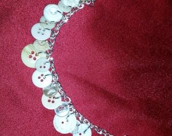 Antique Button Bracelet - Off White