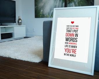 FREE SHIPPING** Elton John - Your Song, Elton John Poster, Elton John Print, Elton John Lyrics, Music Poster, Typography Poster, Lyrics