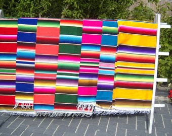 Authentique Mexican Serape Saltillo Blanket. Handmade on a loom. Directly from México