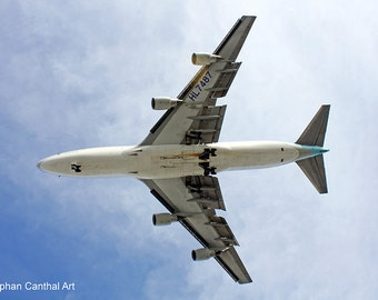 LAX 9, Airport, Underneath Airplane, Flight, Landing, Los Angeles, Photography, Home Decor