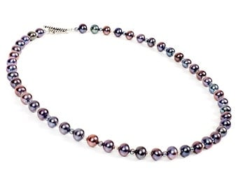 """Starling - 18"""" necklace of freshwater pearls and sterling silver"""