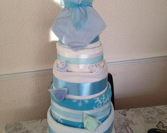 5 Tier nappy cake
