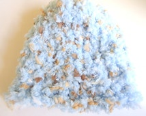 preemie boy beanie fuzzy blue and brown colored preemie hat preemie cap baby hat baby clothes unique baby clothes crochet baby hat knit hat