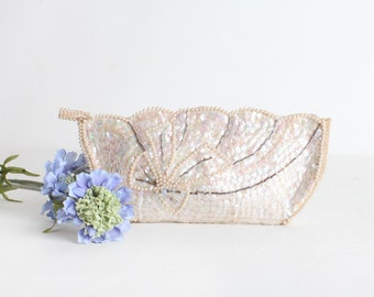 Vintage Beaded Wedding Clutch