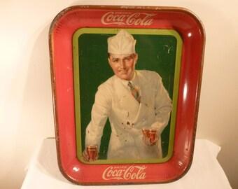 """Original 1927  """"Soda Jerk""""  coke tray"""