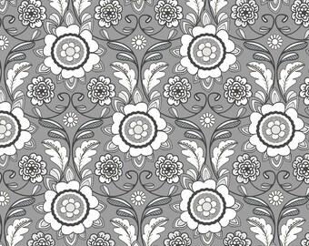 Fabric, Parisian Scroll Print fabric by Riley Blake