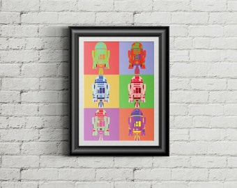 "Star Wars R2D2 ""Andy Warhol"" - Poster"