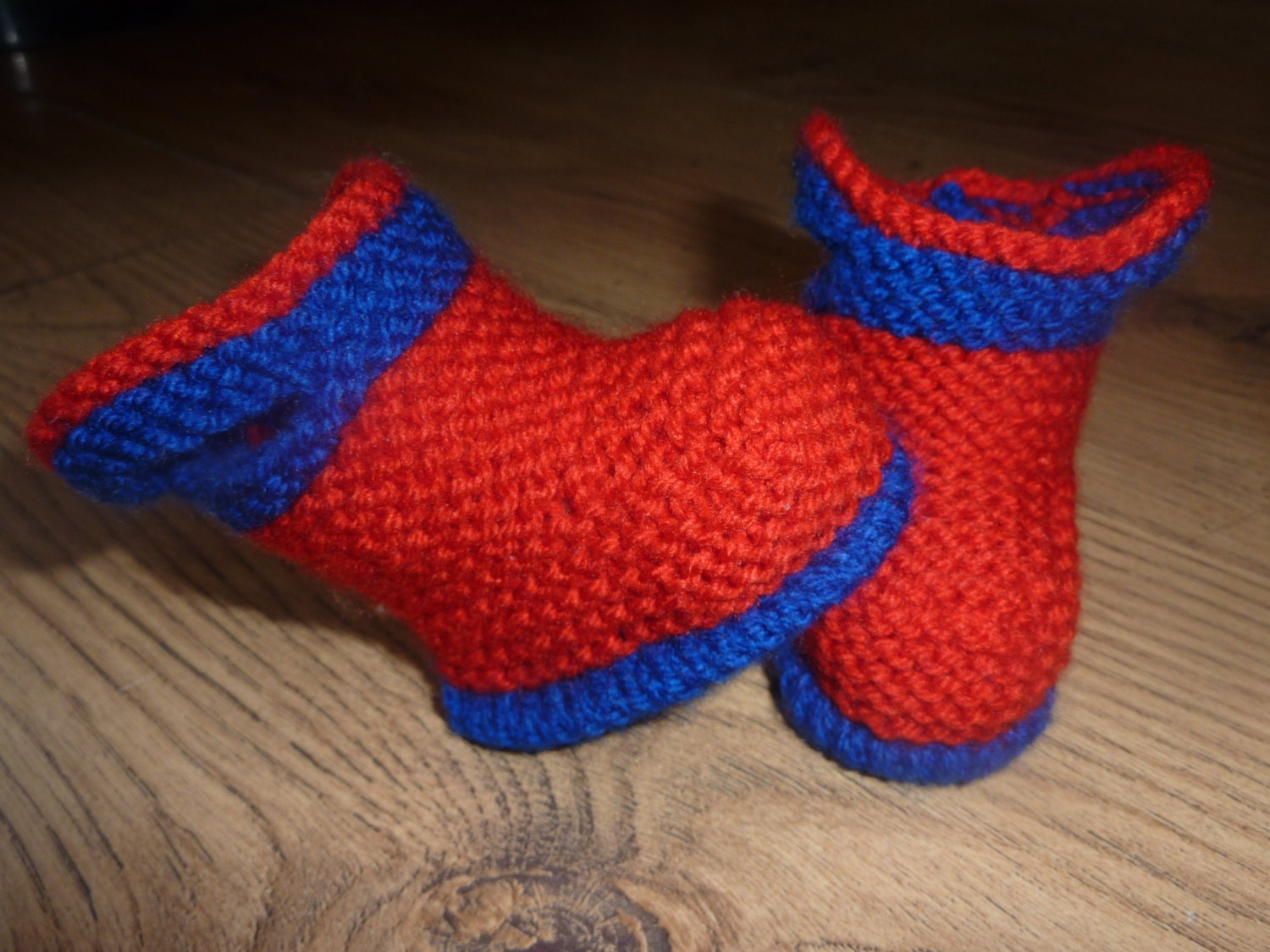 Hand Knitted Baby Booties Baby Boots Baby by DukehamDesigns