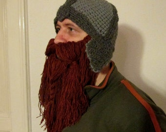 beard hat pattern, viking hat, lord of the ring hat, hobbit hat, dwarf hat pattern, lord of the rings, dwarven helm, dwarf helmet