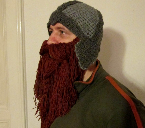 Crochet Dwarf Beard Hat Pattern : beard hat pattern viking hat lord of the ring hat hobbit